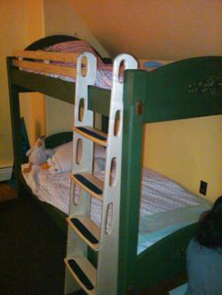 Milk painted bunk beds