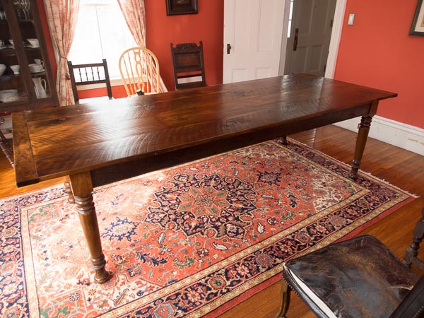 Rustic Pine dining table #2C