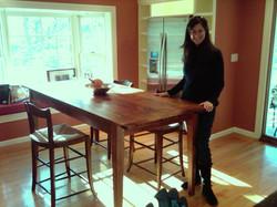 Shaker tapered legs on tall kitchen