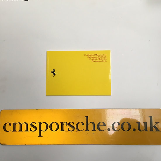 Ferrari Yellow Service Books - 308, 328, 348, 355, Mondial, 456, Testarossa, 400