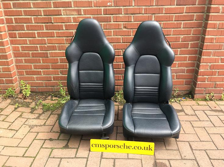 Porsche 911 (996) & Boxster Blue Sports Front Seats