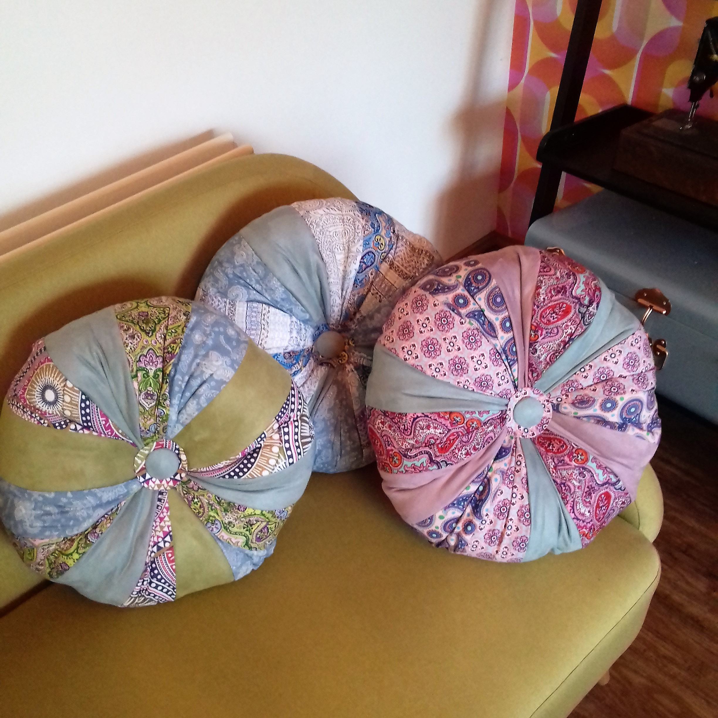 Selection of medium pumpkin cushions