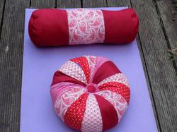 Red zafu and bolster set