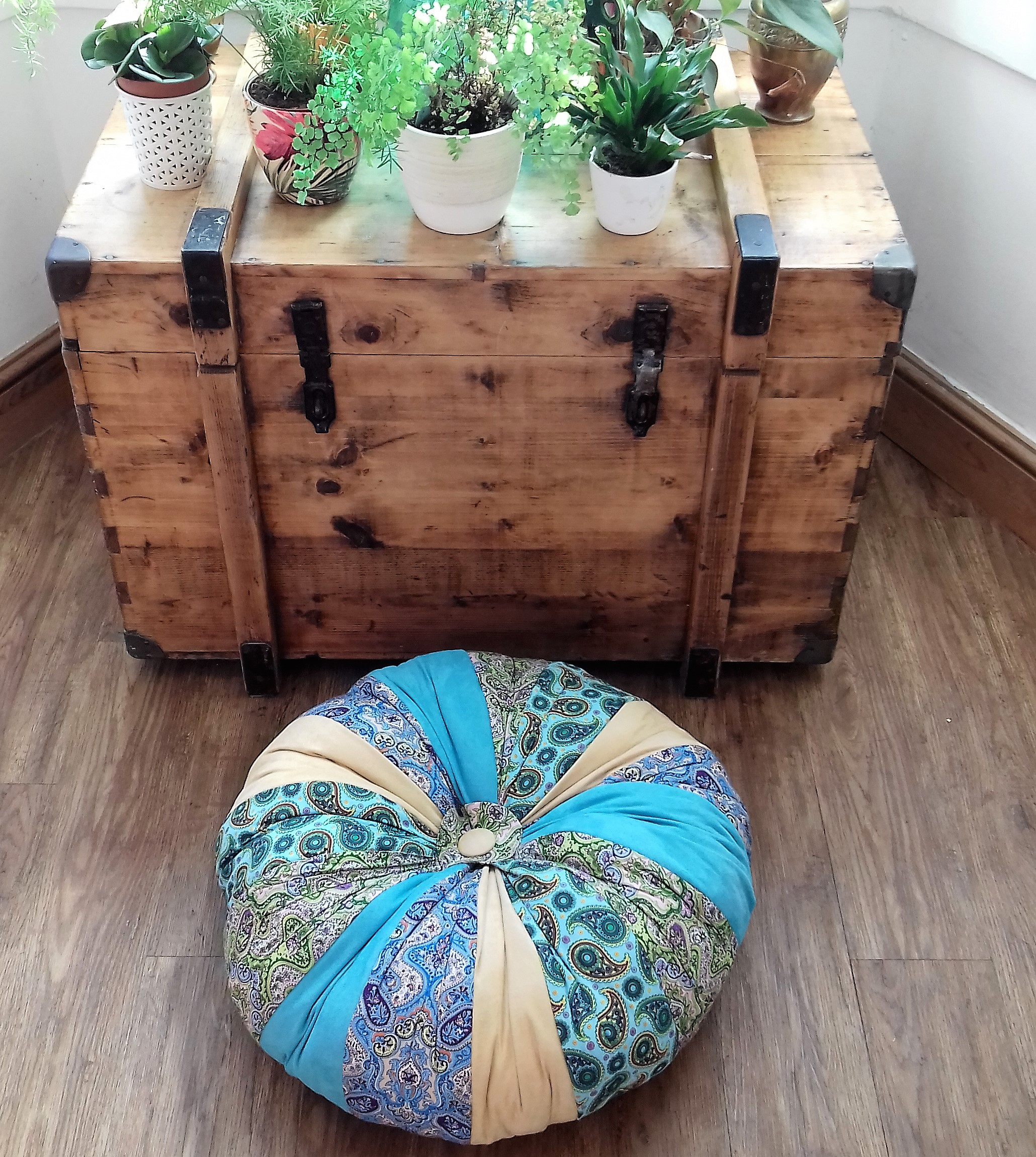 Giant pumpkin floor cushion/pouffe