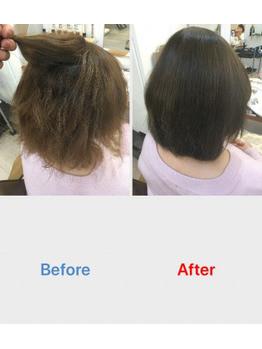 縮毛矯正で髪質改善