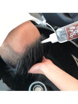 炭酸泉とクレンジングで普段のシャンプーでは 落ちきらない頭皮や毛穴の汚れをとっていきます。