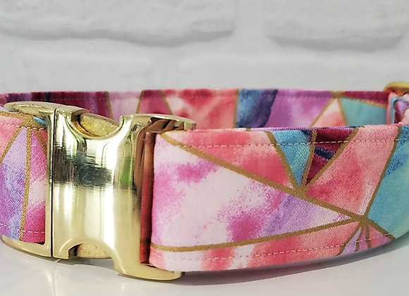 Geometric Pink with Brass