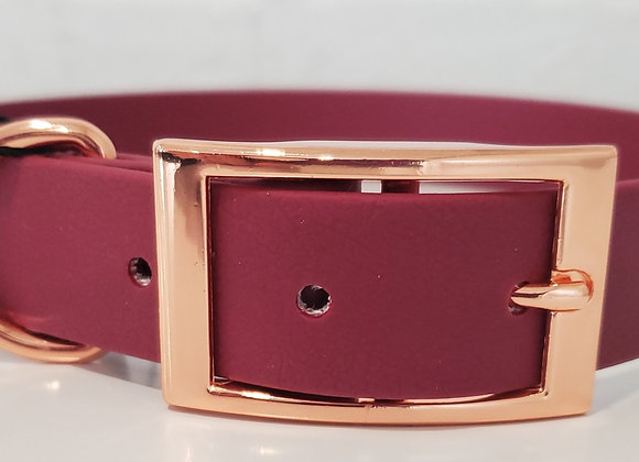 Maroon with Rose Gold