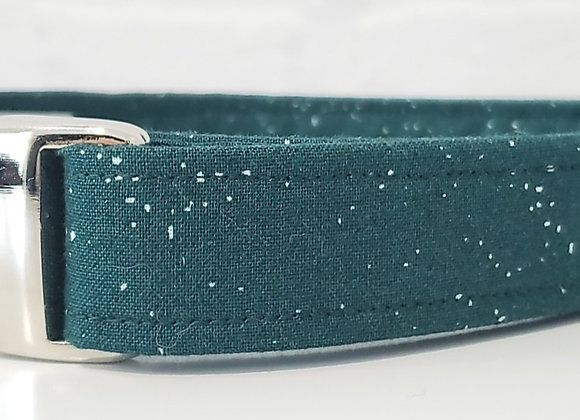 White Speckled Green with Nickel