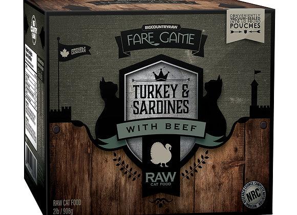 Turkey & Sardines with Beef