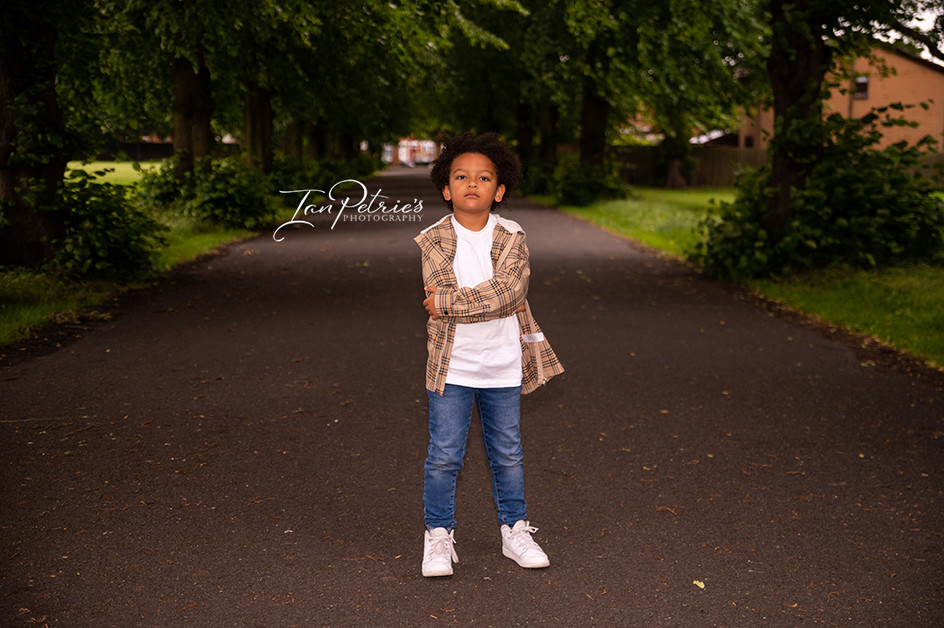 Derby Portrait photographer - Fashion shoot with young child with afro hair