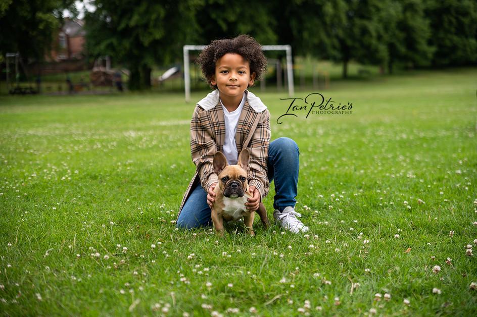 Child and his dog portrait - Nottingham & Derby portrait photographer