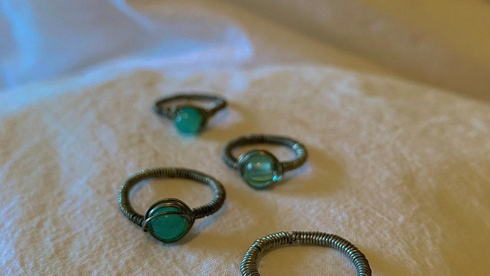 Blue bead RINGS