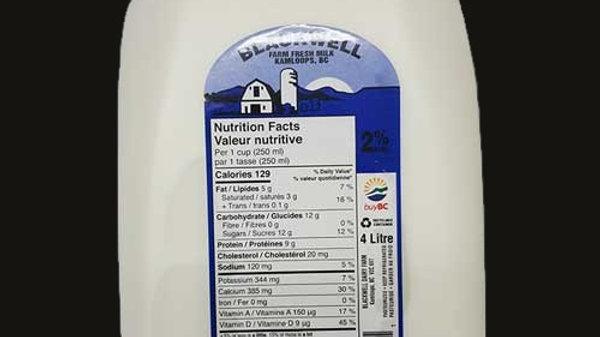 Milk: 2% - 4L