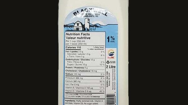 Milk: 1% - 2L