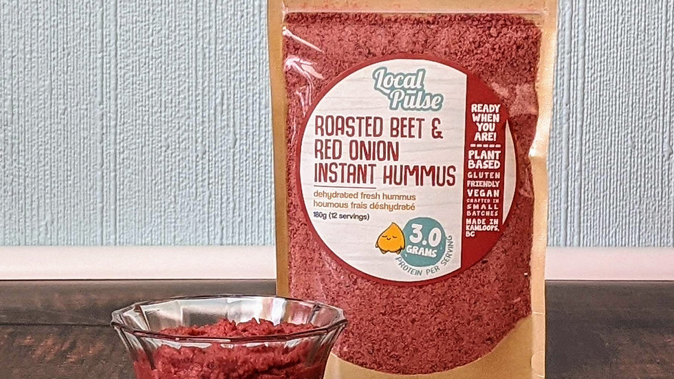 Instant Hummus : Chipotle Black Bean, Beet+Red Onion,Classic,Curry, Pepper 180g