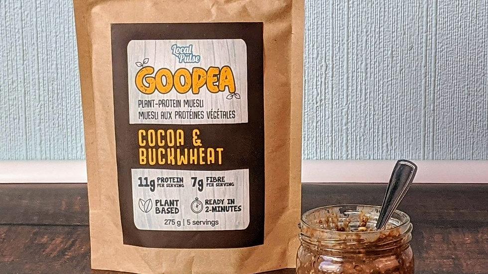 GOOPEA: Cocoa+Buckwheat 275g (Plant Protein Muesli)