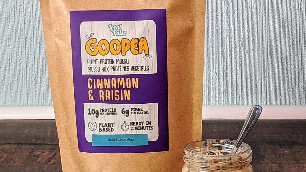 GOOPEA: Raisin+Cinnamon 550g (Plant Protein Muesli)