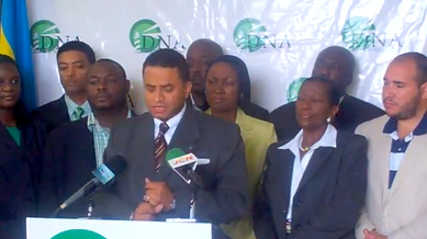 Press conference hosted for the political group, Democratic National Alliance.