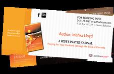 Author, Inishka Lloyd's Business Card design