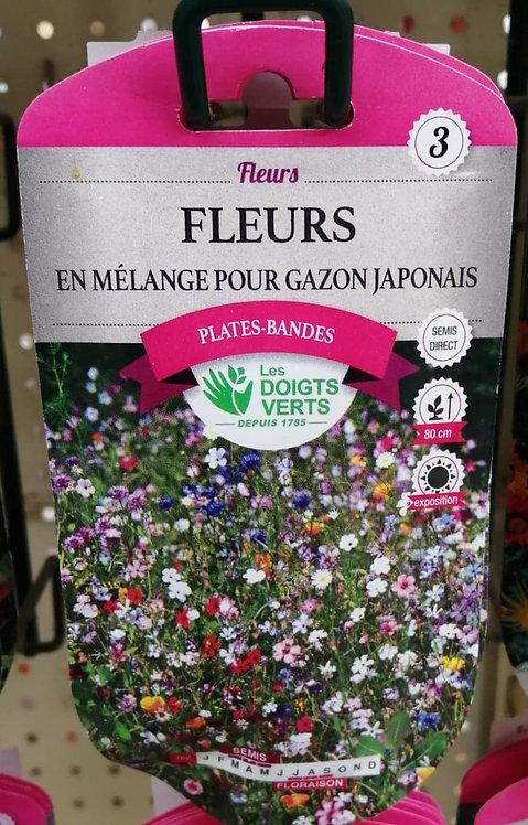 Fleurs en mélange pour gazon japonais n°3