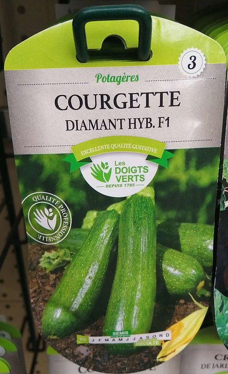 Courgette diamant hyb f1 n°3