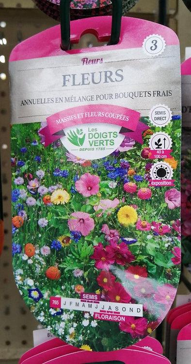 Fleurs annuelles en mélange pour bouquets frais n°3