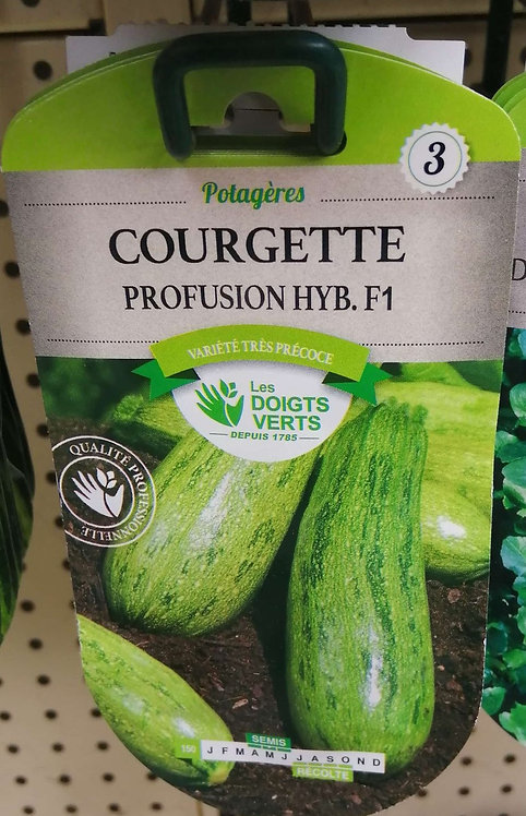 Courgette profusion hyb f1 n°3