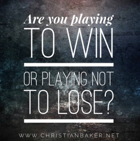 YOU HAVE TO LOSE TO WIN !