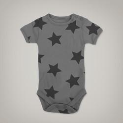 Black Stars Onesie