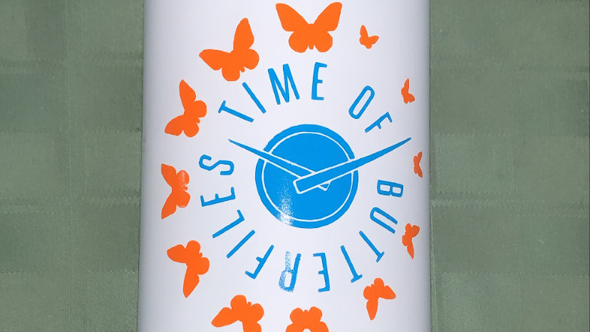 Time Of Butterflies Water Bottle