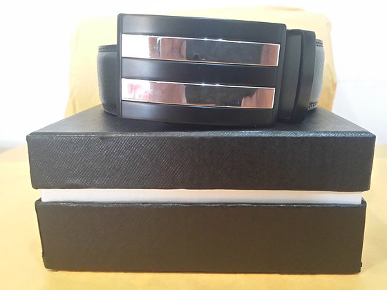 "Fashion Adjustable Men's Belts w/Gift Box ""Stripe"""