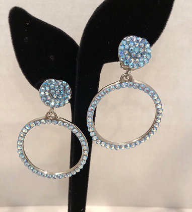 AB Doorknocker Clip Earrings