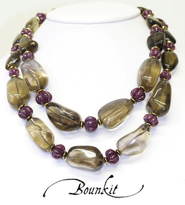 Hassan Bounkit Natural Gem Stone Necklace