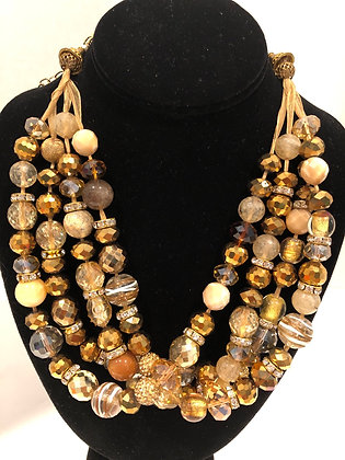 Satin Bead Necklace