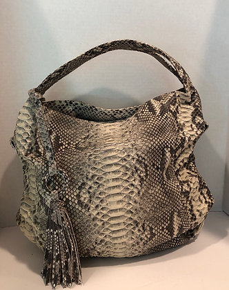 Natural Snakeskin Shopper