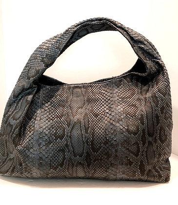 Exotic Skin Varigated Grey/Blue Hobo Bag