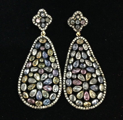 Magnificent Indian Saphire Earrings