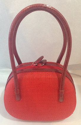 Water Snake & Natural Fiber HandBag