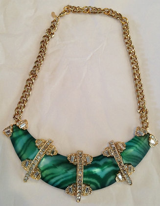 Alexis Bittar Art Deco Resin Necklace