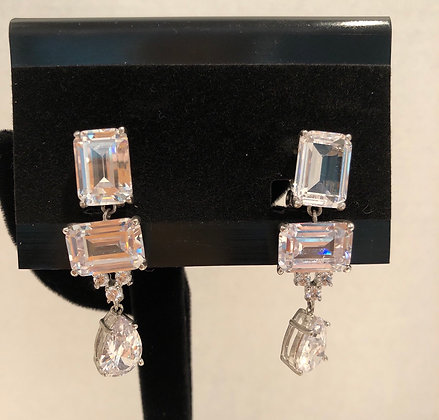 Crystal Simulating Diamond Earrings