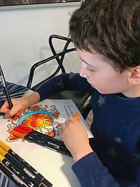 coloring to music