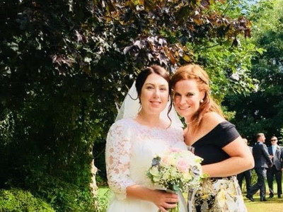 The beautiful Becky on her wedding day