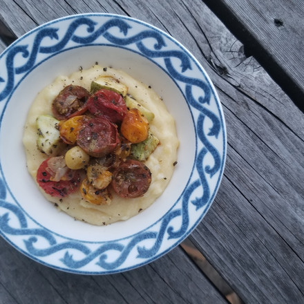 Roasted Vegetables with Polenta