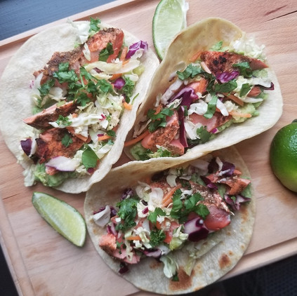 Chile-Lime Salmon Tacos