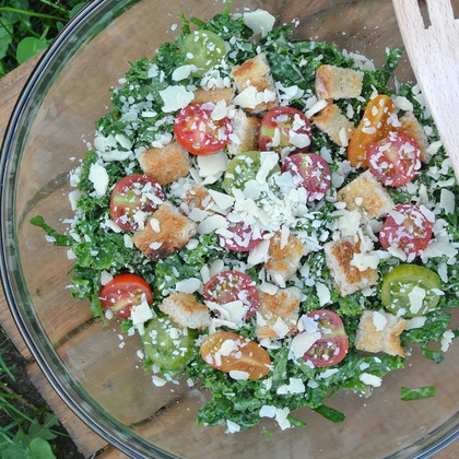 Shredded Kale Caesar Salad