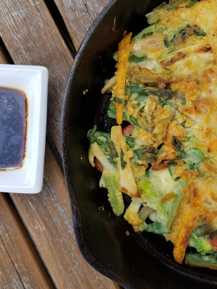 Korean Scallion Pancakes with Vegetables