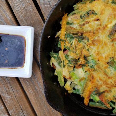 Korean Scallion Pancakes with Vegetables