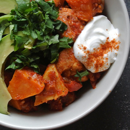 Spicy Sweet Potato & Chicken Bowl