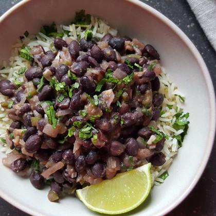 Cuban Black Beans with Cilantro & Lime